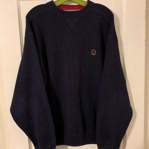 Vintage Tommy Hilfiger Crest Cotton Knit Sweater L